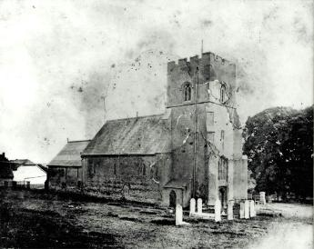 The church from the north-west in 1876 [Z50/68/13]